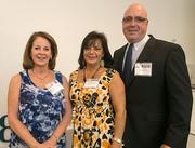 Terri Gavin, property manager, Montecito Medical Management; Tammy Baczynskyj, lead sales/inspection manager, VSC Fire & Security; Adrian Cox, vice president, loan protector.