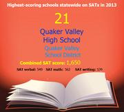 Pennsylvania's Top 50 High schools ranked by SAT scores in 2013.