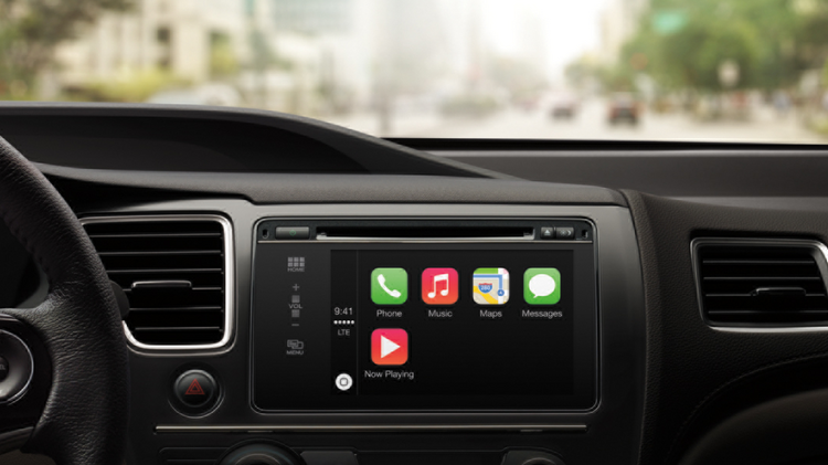 Apple is first launching its CarPlay dashboard system in Ferrari, Mercedes and Volvo vehicles.