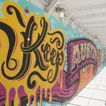 Downtown Austin developer unveils colorful street art project