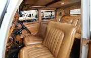 The interior of this Bentley, Dubrow's first vintage vehicle, offers luxury.