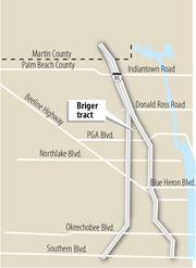 1. The Briger tract in northern Palm Beach County was considered one of the most in-demand properties remaining for development in the area.