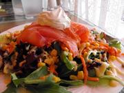Smoked salmon salad at Cafe Rolle.