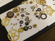 Tiny parts will become part of a steampunk-themed pedal.