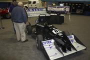 This race cart was designed by engineering students at Kansas State University.