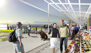 The waterfront entrance will have a plaza as well as stalls where farmers and crafts people can sell their wares.