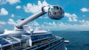 This jewel-shaped capsule will take passengers more than 300 feet in the air for 360-degree views off the side of the ship.