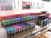 Office workers rejoice: Muji allows customers to build their own pens by selecting colors, thickness and grips.
