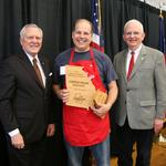 Tim Young's Georgia Gold Clothbound Cheddar Cheese wins 2014 Flavor of Georgia