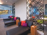Inside the new American Express lounge at D/FW International Airport.