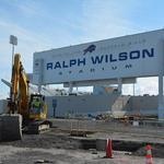 Workers plow through snow to renovate Ralph Wilson Stadium
