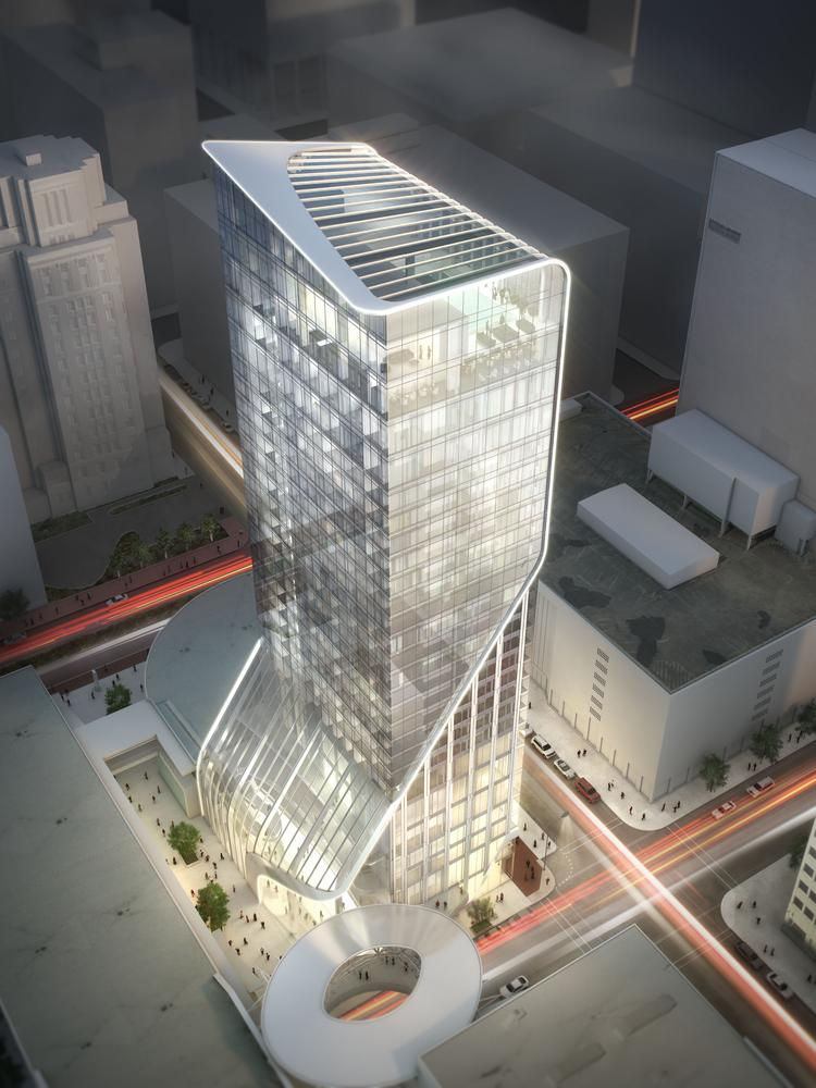Midway cos to build luxury hotel alessandra in downtown for Hotel luxury houston
