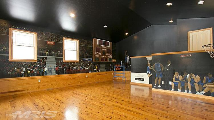 The elite 8 eight luxe homes with basketball courts Indoor half court basketball cost