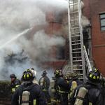 Boston firefighters respond to 9-alarm fire in Boston's Back Bay