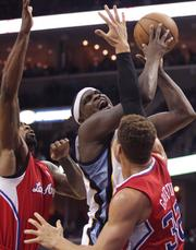 Zach Randolph goes up for a shot in close