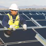 APS, First Solar building big solar battery storage project, panel field in desert