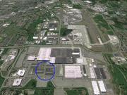 Boeing will be building its two new 777X building on the north side of the Everett plant, in the area circled.