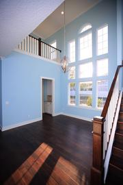 A staircase in a home by Dreambuilder Custom Homes.