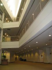 Pictured is a view of one of the Albuquerque Office Complex buildings' atrium.
