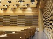 The Adams Group did acoustical woodwork for the University of South Florida School of Music