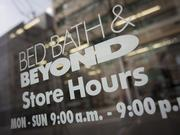 Bed Bath & Beyond is one of the public companies expected to report earnings next week.