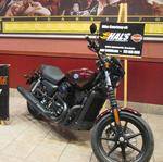 Captain America's Harley on display at Ridge Cinema for 'Winter Soldier' premiere