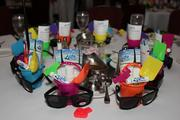 Tables were decorated by the TBBJ and by attendees.