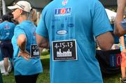 The Insurance Office of America (IOA) team gave out about 500 memorial signs for runners to wear in honor of the people of Boston.