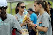 Food and water were in no short supply before race time.