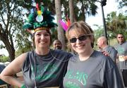 From left: Mary Souders and Tracey Fields of Piedmont Lakes Middle School dressed for their team name, the Chiefs.