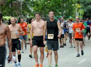 And this is the end of the race. The faces at the finish line look a lot different.