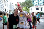 John Galloway and George Melichar of Hard Rock International. Happy to be at the finish line.