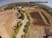This photo shows the rest of the demolition site below Pruneridge. Notice the heavy equipment lined up at left.