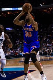 Rasheed Wallace fires one of the last shots of his long NBA career during a 106-95 loss to the Bobcats in Charlotte on Monday April 15, 2013.