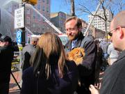 Ben Cross, owner of Boon, talks about the dog's rescue from an apartment next to the Suit Corner fire.