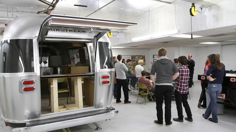 CCAD Students Are Building Out The Interior Of A 23 Foot Airstream Inc.  Trailer