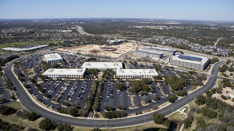 Birds-eye view of Apple's new Austin campus - Austin