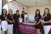 Pali Momi Medical Center is a sponsor of the LPGA LOTTE Championship for the first time this year. From left: Judy Nakatsu, Jackie Scotka, Jen Dacumos, Wendell Woo, Jenny Kam and Melissa Watson.