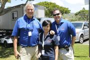 Ray Stosik, executive director, Justin George, tournament director and Lori Yip, director of marketing for the LPGA LOTTE Championship.