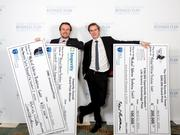 Germany's Medical Adhesive Revolution GmbH won the grand prize of the Rice Business Plan competition. (From left: Marius Rosenberg, Alexander Schueller)