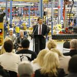 Caterpillar hosts governor's launch of NCWorks for job seekers and companies that are hiring