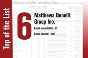 Matthews Benefit Group Inc. took the No. 6 spot.