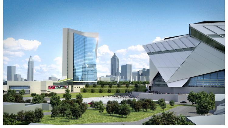 The Georgia World Congress Center Is Considering A Hotel At Dome Site