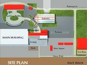 Canterbury Park's new event center will be built across from the paddock area, between the parking lot and the main building.