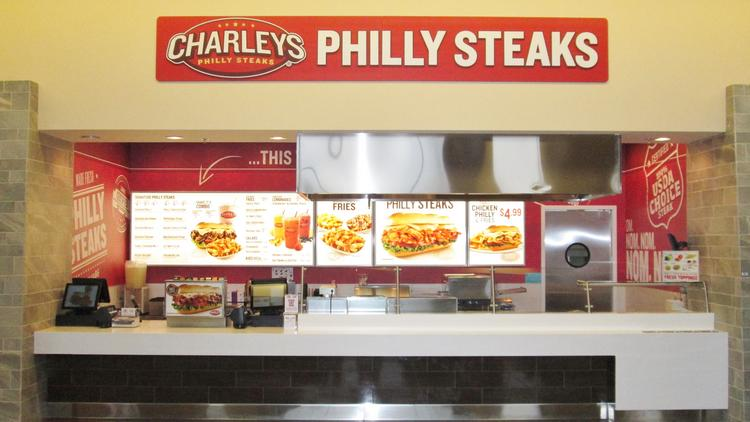 The First Of Three New Locations Charleys Philly Steaks Opened May 21 At Rolling