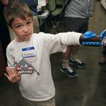 See a 6-year-old try out his 3D-printed prosthetic hand for the first time (Photos)