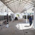 Grandstand terrace adds another amenity for many fans