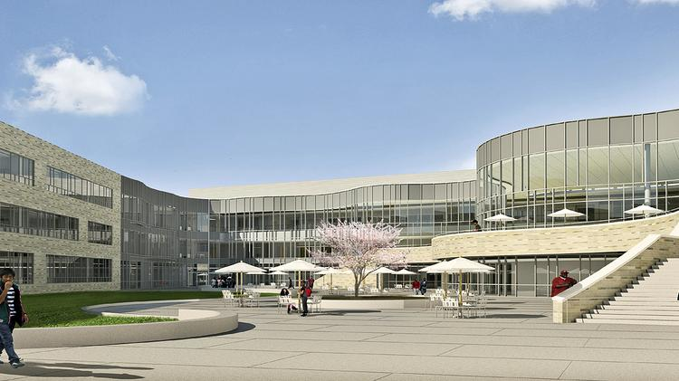 The Lobby Will Overlook The Cafeteria And A Landscaped Courtyard At Its  Center.