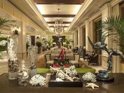 The lobby of the Sandpearl resort.