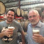 Tom Pepin and Joey Redner work on beer deal away from Tallahassee